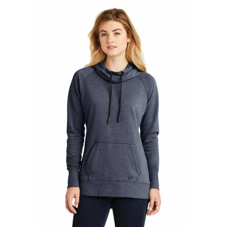 New Era LNEA510 Ladies Tri-Blend Fleece Pullover Hoodie