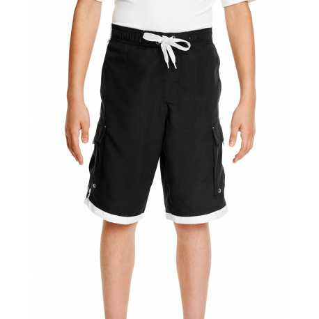 Burnside B4401 Youth Striped Swim Shorts