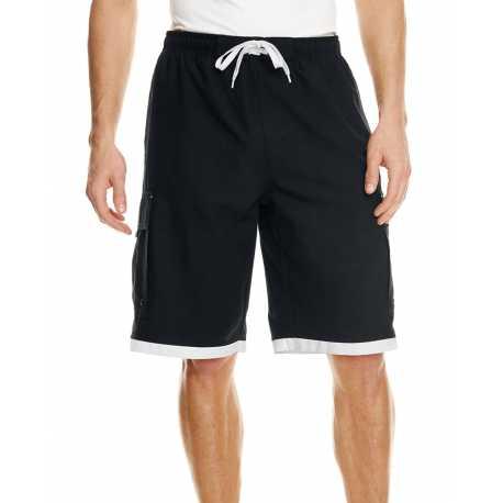 Burnside B9401 Mens Striped Swim Short