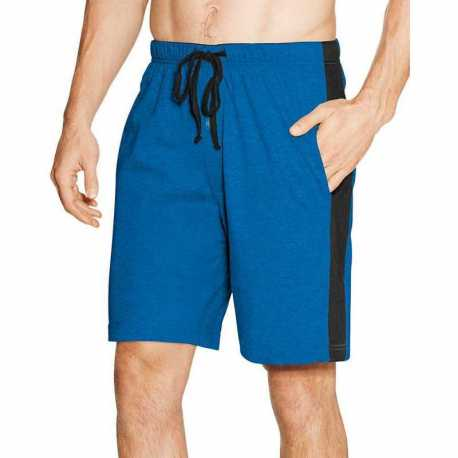 Hanes 01005/2 Men's Logo Waistband Striped Shorts 2-Pack