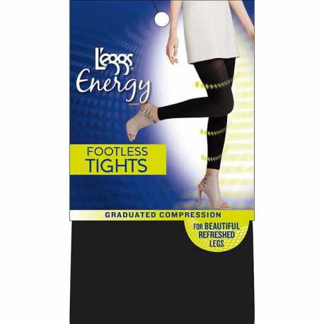 Leggs 02001 Energy Collection Opaque Footless Tight