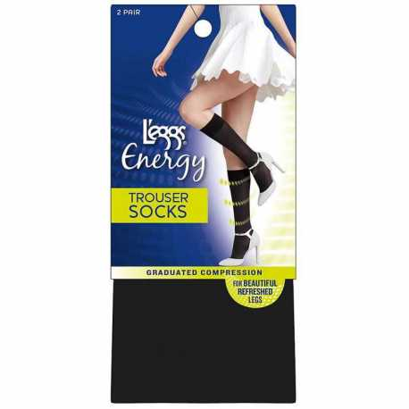 Leggs 02002 Energy Collection Trouser Socks 2-Pack