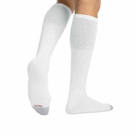 Hanes 180/6 Men's Over the Calf Tube Socks 6-Pack