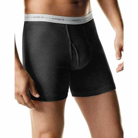 Hanes 2349C4 Men's TAGLESS 2X-3X Boxer Briefs with Comfort Flex Waistband 4-Pack