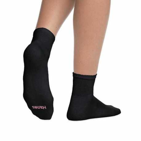 Hanes 403/6 Women's ComfortBlend Ankle Socks 6-Pack