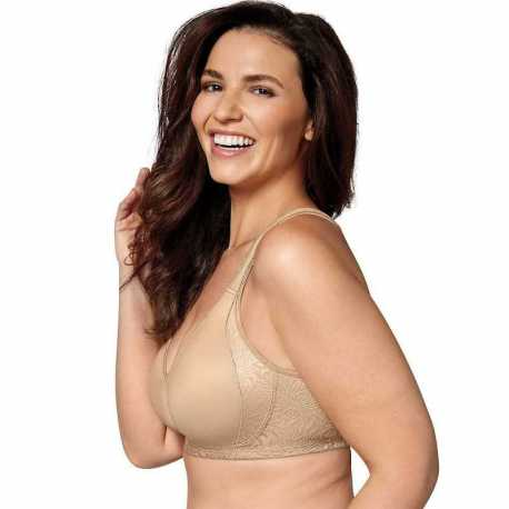 Playtex 4049B 18 Hour Back and Side Smoothing Wirefree Bra