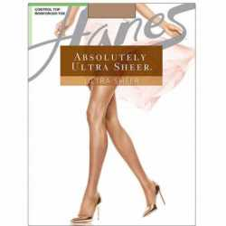 Hanes 706 Absolutely Ultra Sheer Control Top Reinforced Toe