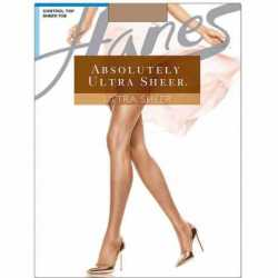 Hanes 707 Absolutely Ultra Sheer Control Top Sheer Toe Pantyhose
