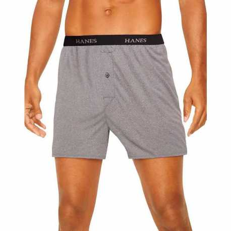 Hanes 709BP5 Classics Men's TAGLESS ComfortSoft Knit Boxers with Comfort Flex Waistband 5-Pack