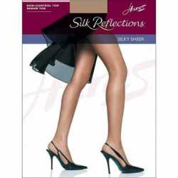 Hanes 715 Silk Reflections Sheer Toe Pantyhose