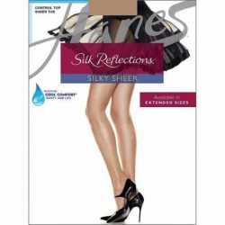 Hanes 717 Silk Reflections Control Top Sheer Toe Pantyhose