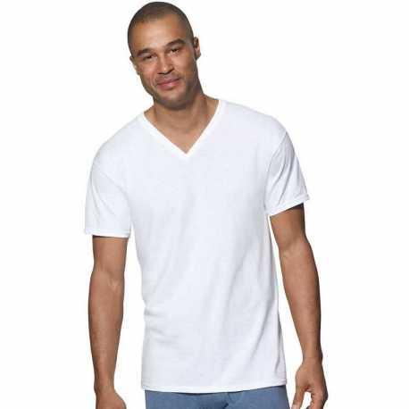 Hanes 7880W3 Ultimate ComfortSoft TAGLESS Men's V-Neck Undershirt 3-Pack