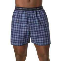 Hanes 841BX5 Men's Yarn Dyed Plaid Boxers 5-Pack
