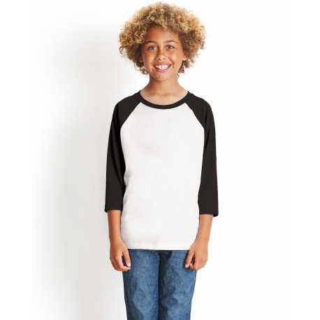 Next Level 3352 Youth CVC 3/4-Sleeve Raglan