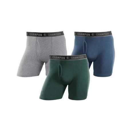 Champion CHCRA2 Men's Cotton Performance Regular Leg Boxer Brief 3-Pack