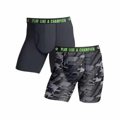 Champion CHLWA2 Men's Ultra Lightweight Regular Leg Boxer Brief 2-Pack