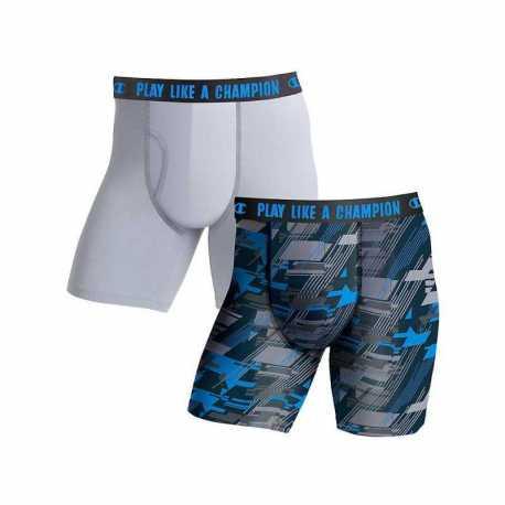 Champion CHLWA4 Men's Ultra Lightweight Regular Leg Boxer Brief 2-Pack