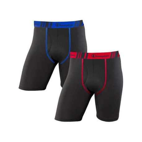 Champion CHTLA1 Men's Tech Performance Long Leg Boxer Brief 2-Pack