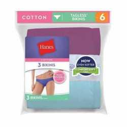 Hanes D42LAS Women's Cotton Bikinis