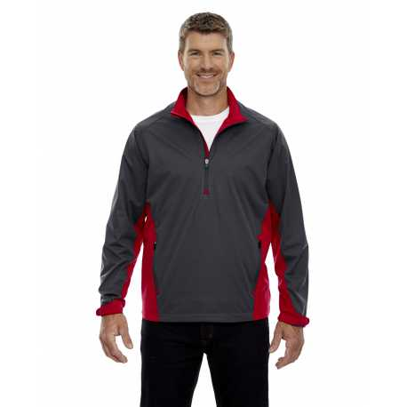 North End Sport Red 88656 Men's Paragon Laminated Performance Stretch Wind Shirt