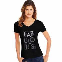 Hanes GT9337 Y06750 Women's Fabulous Short Sleeve V-Neck Tee