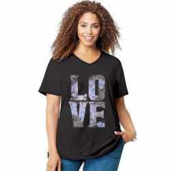 Just My Size GTJ181 Y05546 Big Love Short Sleeve Graphic Tee