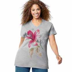 Just My Size GTJ181 Y06069 Tropical Flower Short Sleeve Graphic Tee