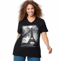 Just My Size GTJ181 Y06453 L'Amour Paris Short Sleeve Graphic Tee