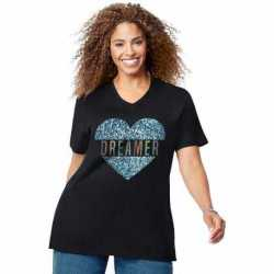 Just My Size GTJ181 Y07190 Dreaming Heart Short Sleeve Graphic Tee