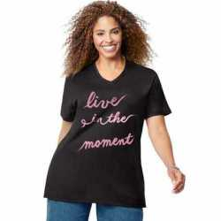 Just My Size GTJ181 Y07191 Live In The Moment Short Sleeve Graphic Tee