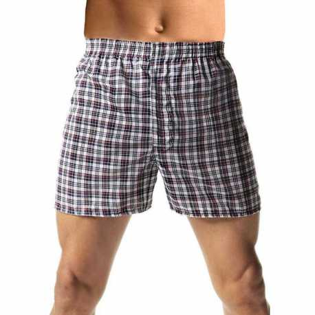 Hanes H155W Men's TAGLESS Woven Boxers with Comfort Flex Waistband 3X-5X 3-Pack