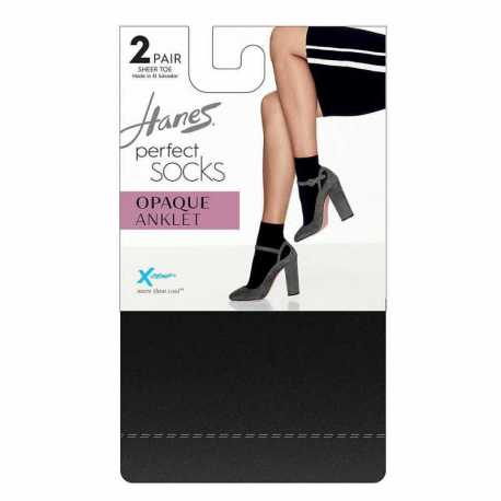 Hanes HST014 Perfect Socks Opaque Anklet P2 ST