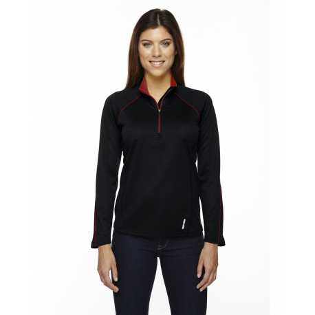 North End 78187 Ladies' Radar Quarter-Zip Performance Long-Sleeve Top