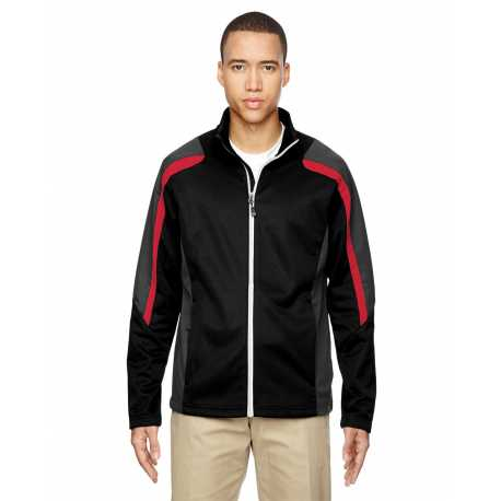 North End 88201 Men's Strike Colorblock Fleece Jacket