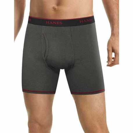 Hanes LB234Z Men's FreshIQ Cool Comfort Breathable Mesh Boxer Brief 5-Pack (4+1 Free Bonus Pack)