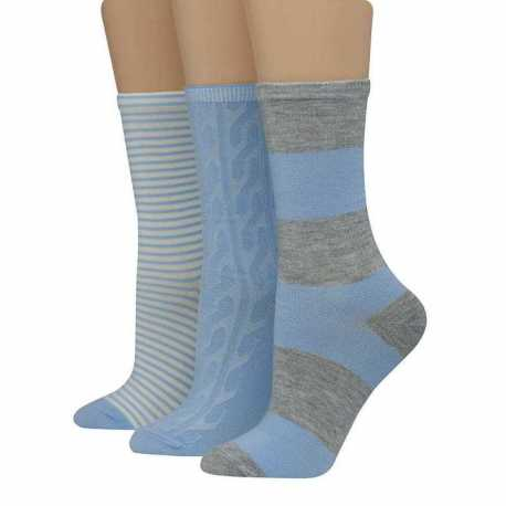 Hanes LF59L3 Women's Assorted Giftable Crew Socks 3-Pack
