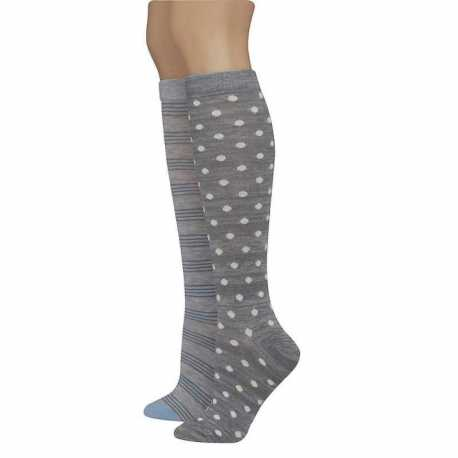 Hanes LF92L2 Women's Assorted Giftable Knee High Socks 2-Pack
