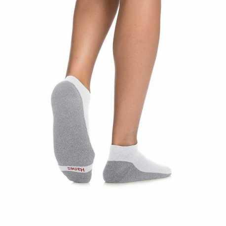 Hanes MC14/6 Men's ComfortBlend Max Cushion Low Cut Sock 6-Pack