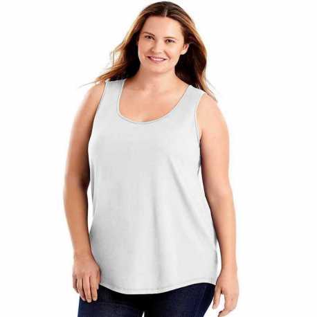 Just My Size OJ207 Cotton Jersey Shirttail Women's Tank Top