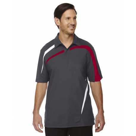 North End Sport Red 88645 Men's Impact Performance Polyester Pique Colorblock Polo