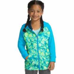 Hanes OK382 Sport Girls' Tech Fleece Full Zip Hoodie