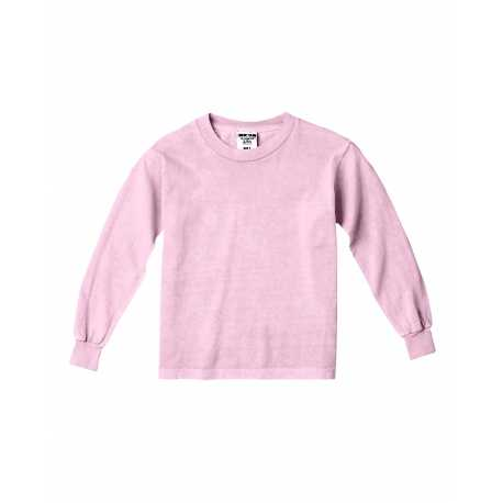 Comfort Colors C3483 Youth 5.4 oz. Garment-Dyed Long-Sleeve T-Shirt