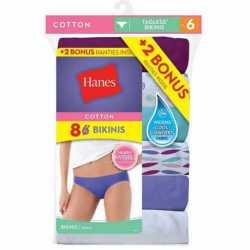 Hanes P842WB Women's Bikini 8-Pack (6+2 Free Bonus Pack)