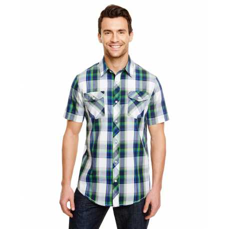 Burnside B9202 Mens Plaid Pattern Woven Shirt