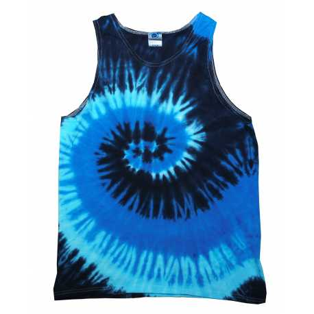 Tie-Dye CD3500 Adult 5.4 oz., 100% Cotton Tie-Dyed Tank