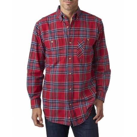 Backpacker BP7001 Men's Yarn-Dyed Flannel Shirt