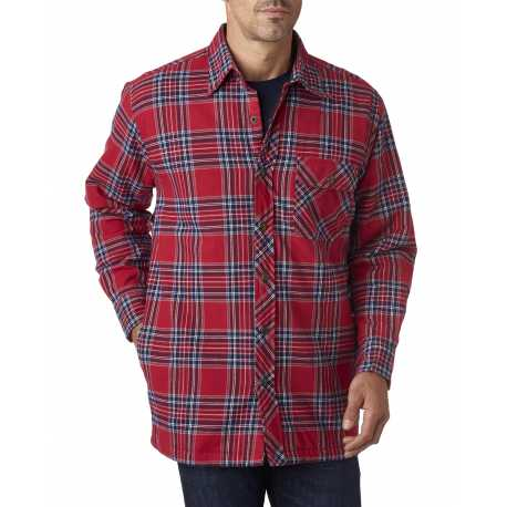 Backpacker BP7002 Men's Flannel Shirt Jacket with Quilt Lining