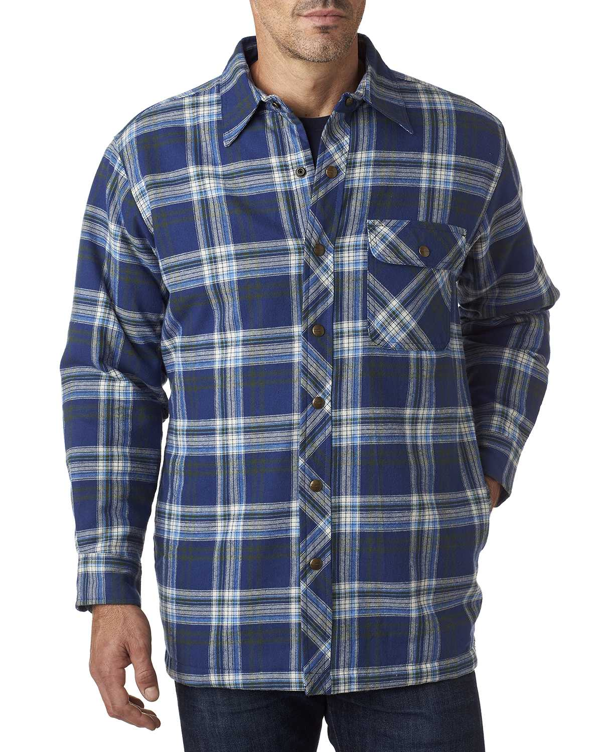 Backpacker Bp7002 Men S Flannel Shirt Jacket With Quilt
