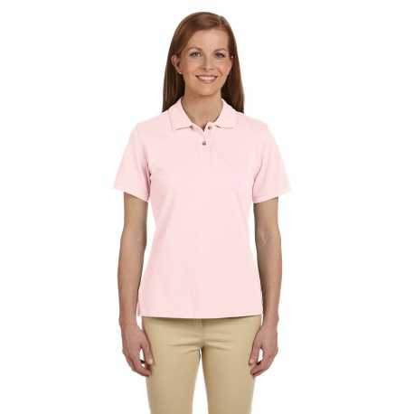 Harriton M200W Ladies' 6 oz. Ringspun Cotton Pique Short-Sleeve Polo