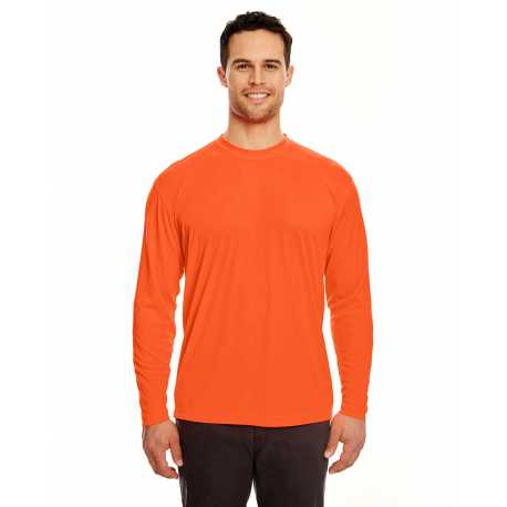 UltraClub 8422 Adult Cool & Dry Sport Long-Sleeve Performance Interlock T-Shirt